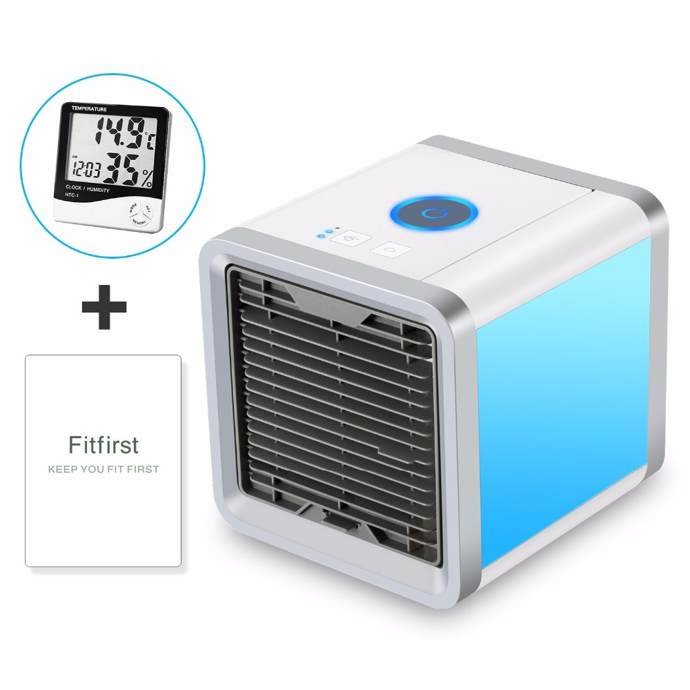 2018 Air Cooling Fan Air Conditioner Arctic Air Personal Space Cooler Humidifier Purifier3 in 1 USB Mini Portable Desk Fans