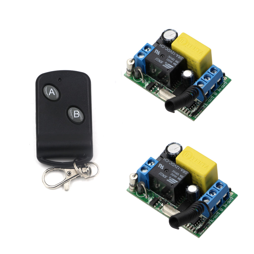 Latest Wireless Remote Control Light Switch 10A Relay AC220V 1CH 2* Receivers  with 2Keys Transmitter 315/433Mhz 2 receivers 60 buzzers wireless restaurant buzzer caller table call calling button waiter pager system