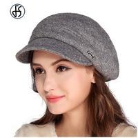 Nrew Women French Wool Felt Beret Hat Flat Cap Female Casual Caps Chapeu Feminino Fedora Boina