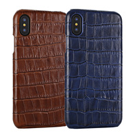 For Iphone X 5 8 Full Protection Back Cover Real Natural Cow Skin Genuine Leather Cowhide