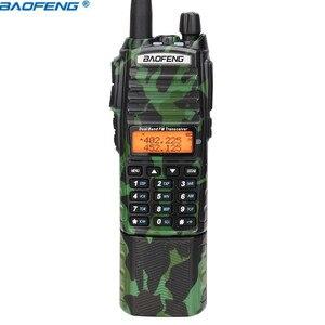 Image 4 - Baofeng UV 82 كامو اسلكية تخاطب 8 واط قوية UHF VHF ثنائي الموجات 3800 mAh 10 كجم طويلة المدى UV 82 للصيد المشي اتجاهين راديو