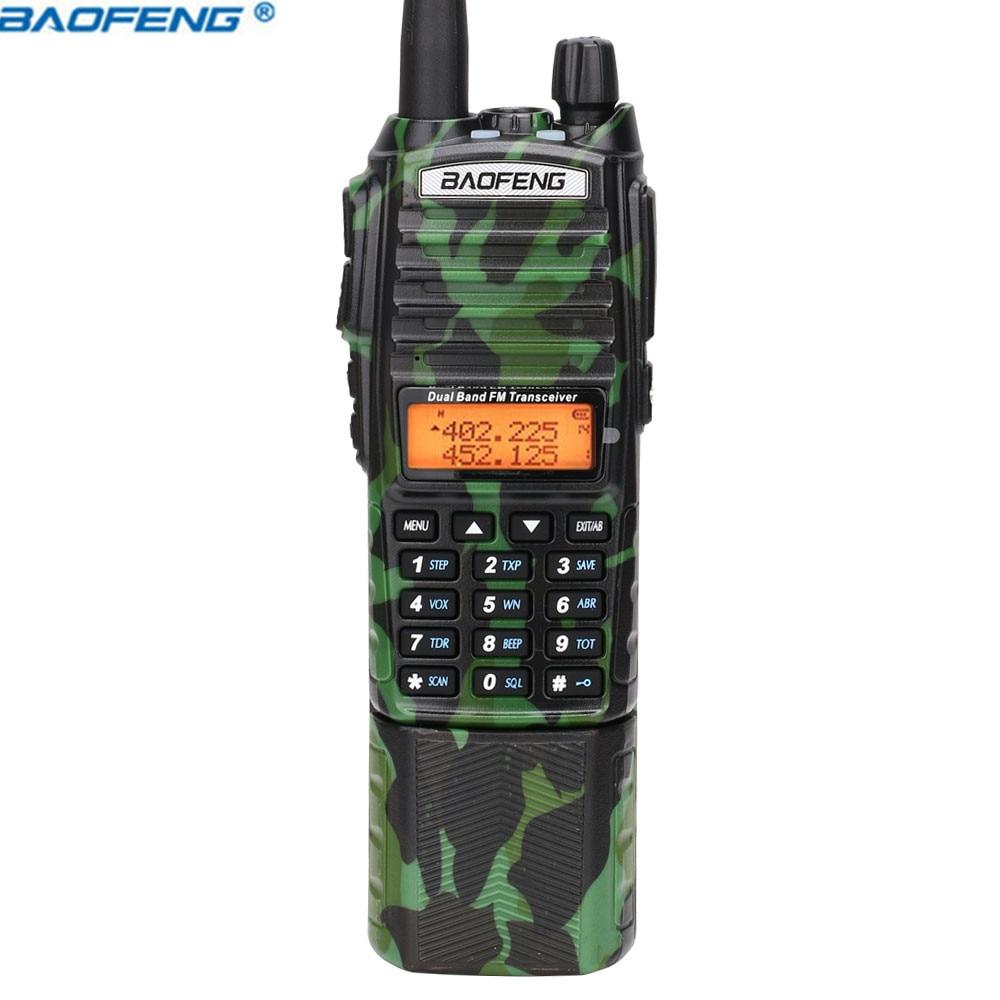 Image 4 - Baofeng UV 82 camo Walkie Talkie 8Watt powerful UHF VHF Dual Band  3800mAh 10KM Long Range UV 82 for hunting hiking Two Way RadioWalkie  Talkie
