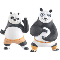 1pc Lot Kungfu Panda Dragon Warrior Comics Pvc Action Figures 2 Styles Black White Piggy Bank