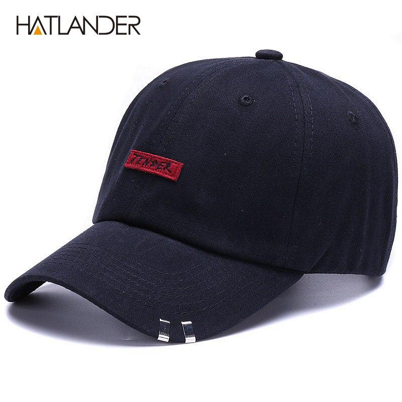 HATLANDER bordado de alta calidad 100% algodón gorra de béisbol de los  hombres y las c052a3cbf9d