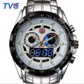 TVG  Sports men full steel Quartz military Watch city Hunter LED Pointer 50AM Waterproof men wristwatch