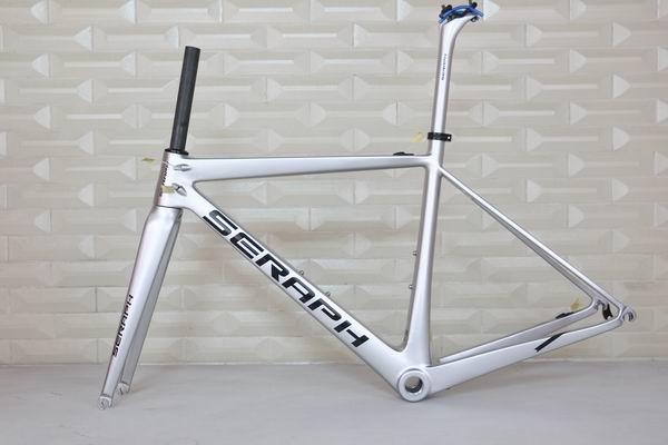 2017  700C Road Bike Carbon Fiber Stiff  Racing Bicycle Frame+Fork+Seat Post+Clamp Frameset , accept paint carbon frame artway av 711