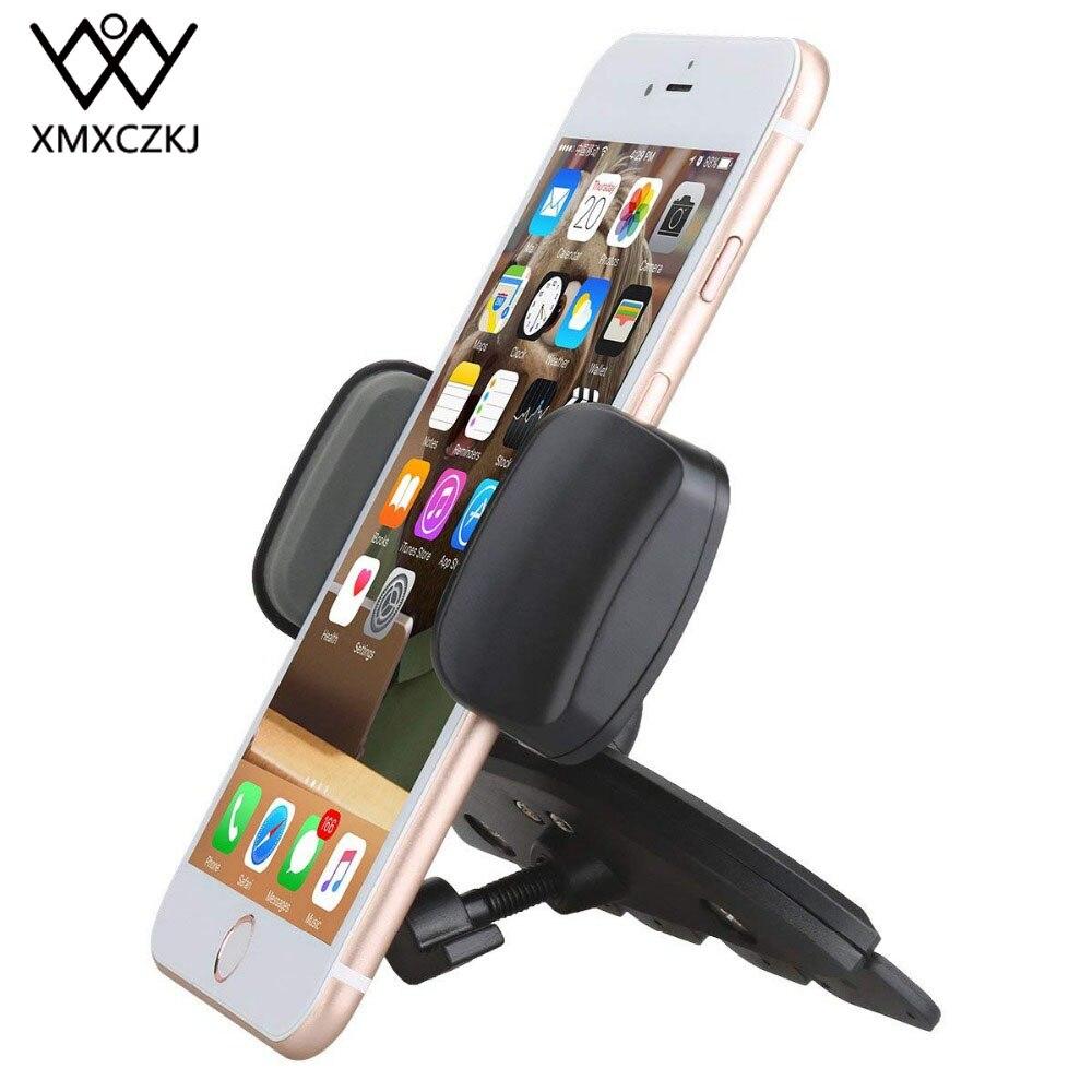 Xmxczkj suporte do telefone móvel do carro suporte acessórios auto suporte do smartphone para cd slot de montagem celular telefone inteligente no carro