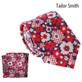 Tailor Smith Pure Silk Fashion Designer Tie Hanky Set With Gift Box Floral Style Necktie Pocket Square Fancy Style Mens Neckwear