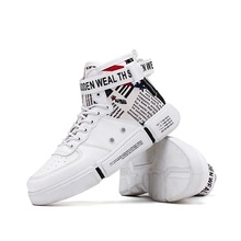 Cheap High-top Men New Trend Street Skateboarding Shoes Boys Outdoor Trekking Sneakers  Youth Casual wild Flat Walking shoes Hot