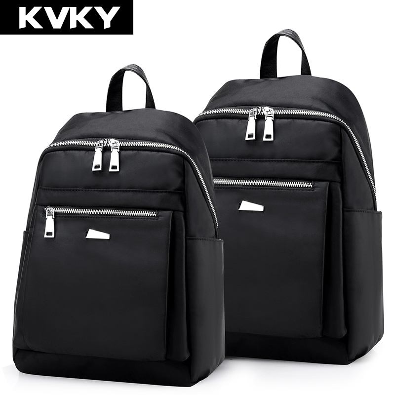 KVKY Fashion Waterproof Nylon Women Backpack Lady Women Backpacks for teenagers girls Travel Bags Casual Female Student Rucksack