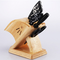 Top Quality 1.7kg Firm Wood Knife Holder Sharpener Scissors Storage Rack Multi purpose Knife Block Thick Bamboo Knife Rack