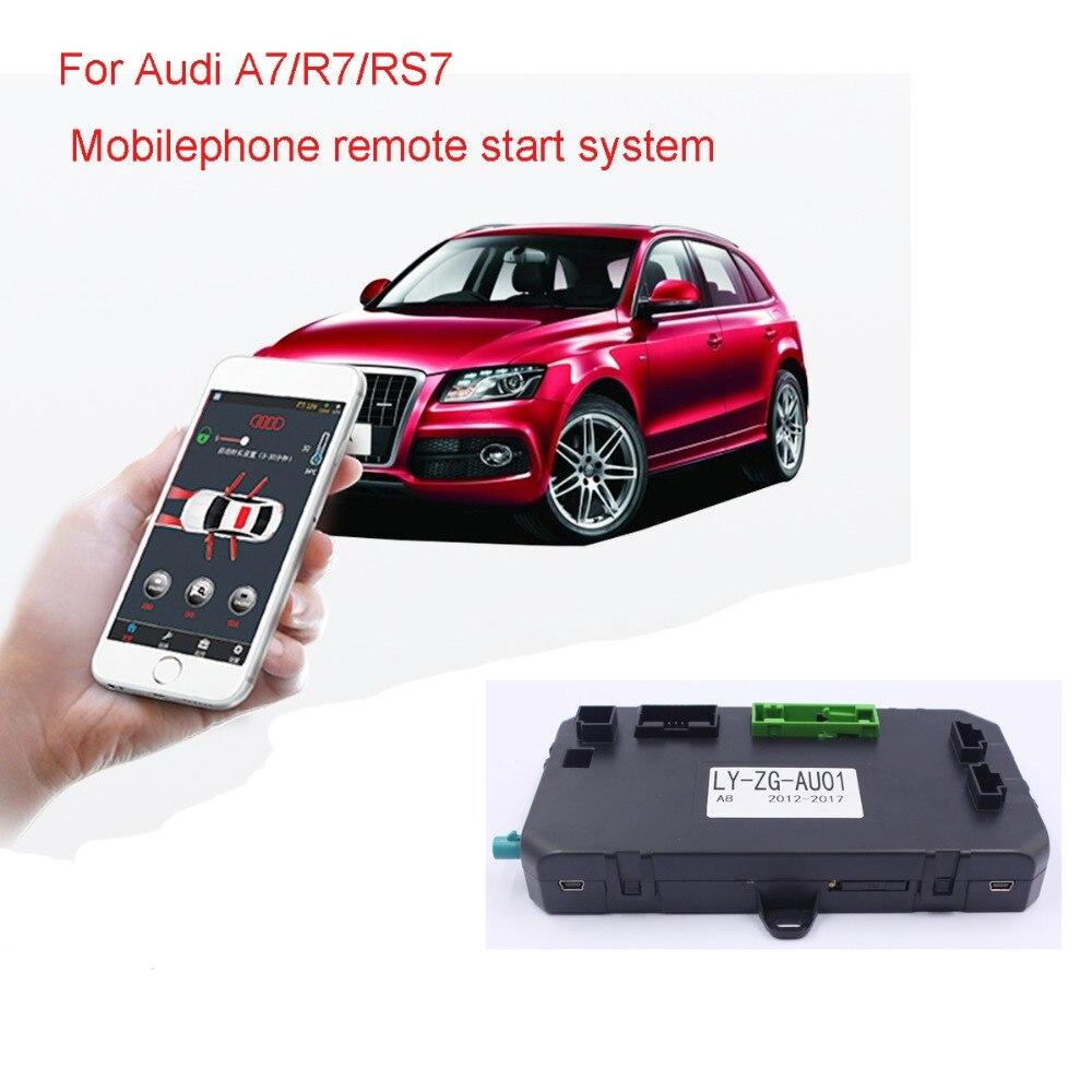 Для Audi A7/R7/RS7 мобильного телефона управления ПКЕ Автозапуск зажигания автомобиля двигателя Starter одним нажатием кнопки Start Системы