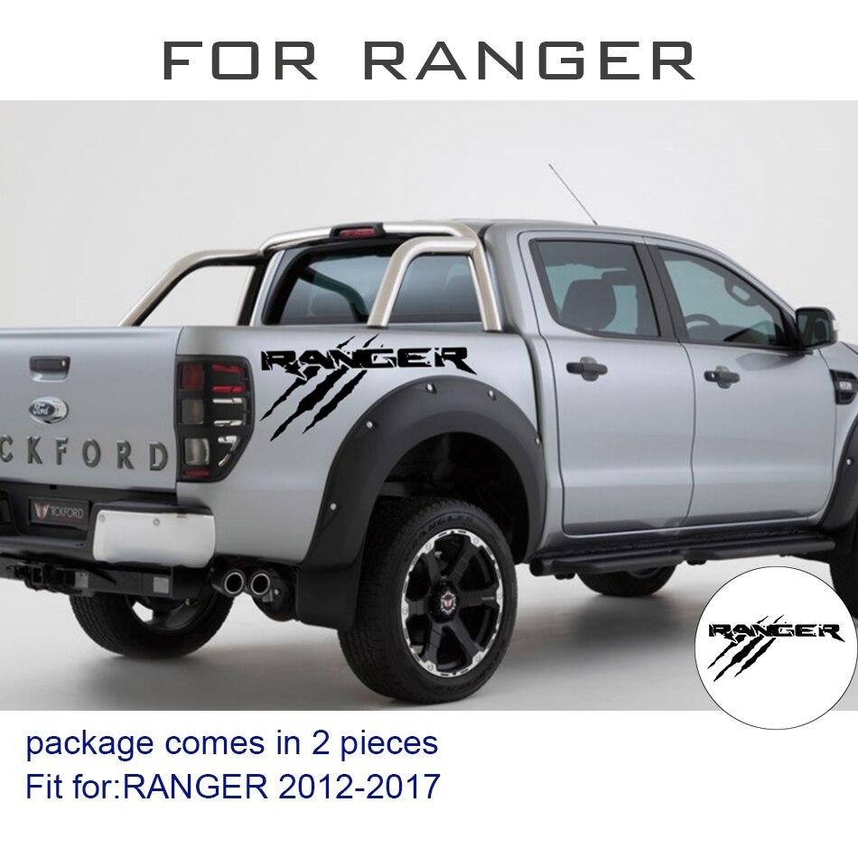 Livraison gratuite 2 pc patte puissance y compris droit et gauche pour Ford Ranger 2012 2013 2014 2015 2016 2017 Vertical lit Bande Kit