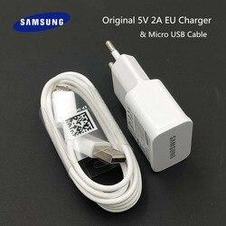 Samsung ładowarka podróżny adapter gniazdkowy 5V 2A ładowania Micro kabel usb do samsunga Galaxy S6 S7 krawędzi J3 J5 J7 uwaga 4 5 A3 A5 A7 2016 w Ładowarki do telefonów komórkowych od Telefony komórkowe i telekomunikacja na
