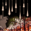 With Tail Plug Connector 30CM Meteor Shower Rain Tubes AC100-240V LED Christmas Lights Wedding Party Garden String Light Outdoor