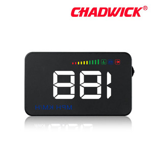 Image 3 - Fashion simple HUD Display Car Overspeed Alarm Water Temperature Alarm OBDII nterface Reflective Film Car styling CHADWICK A500