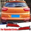 1 Conjunto Para Hyundai IX25 Creta 2015 2016 Traseira Do Carro LEVOU carros Luzes de Freio 12 V 5 W Transformar Sinal De Aviso de Condução Tampa Da Lâmpada
