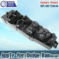 Factory Direct Front Left Master Power Window Control Switch Apply For Dodge Ram 02 10 68171681AA