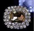 Frete grátis (1 par/lote) 8 cores com clipe removível moda gem diamante sapatos flor sapato fivela acessórios 36*44 milímetros