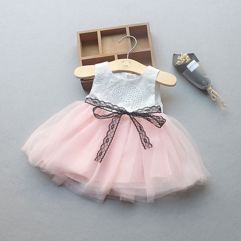 Summer newborn baby girl baby clothes lace belt tutu dresses for girls baby wear clothing birthday party princess dresses dress