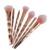 Profesional 7 unids compone Cepillos Cosmético del sistema de Cepillo Del Maquillaje Fundación Rubor Polvos de Oro Rosa Pinceles de Maquillaje Kits de Herramientas de Maquillaje