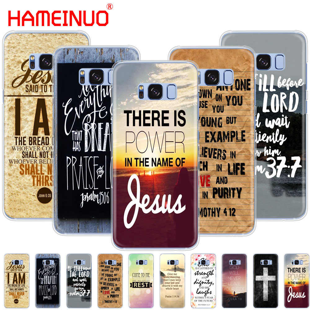 HAMEINUO Christian Jesus Bible Verse cell phone case cover for Samsung  Galaxy S9 S7 edge PLUS S8 S6 S5 S4 S3 MINI