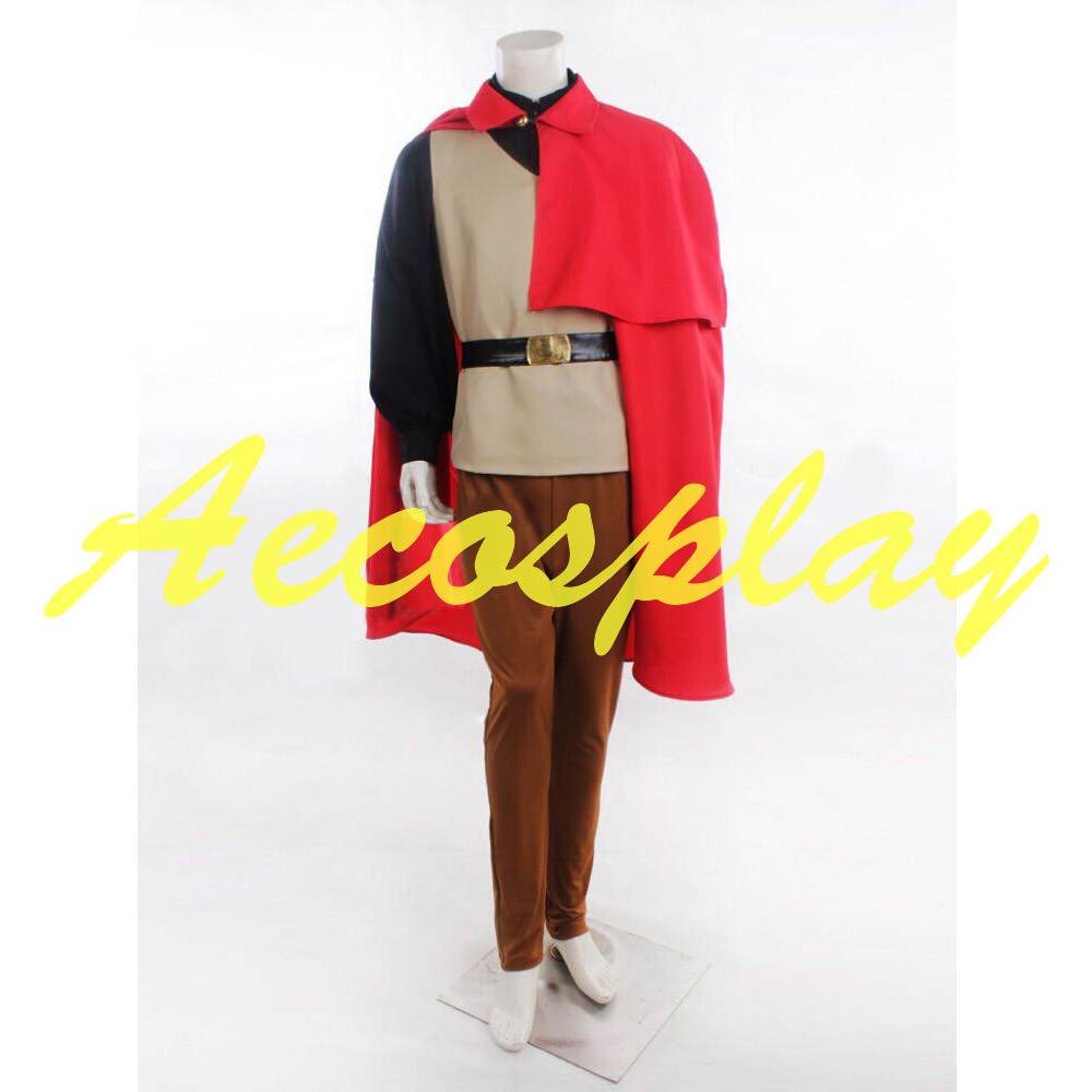 2016 Halloween Sleeping Beauty Prince Phillip Costume Outfit Adult Men Plus size Costume Cosplay Costume Full Set