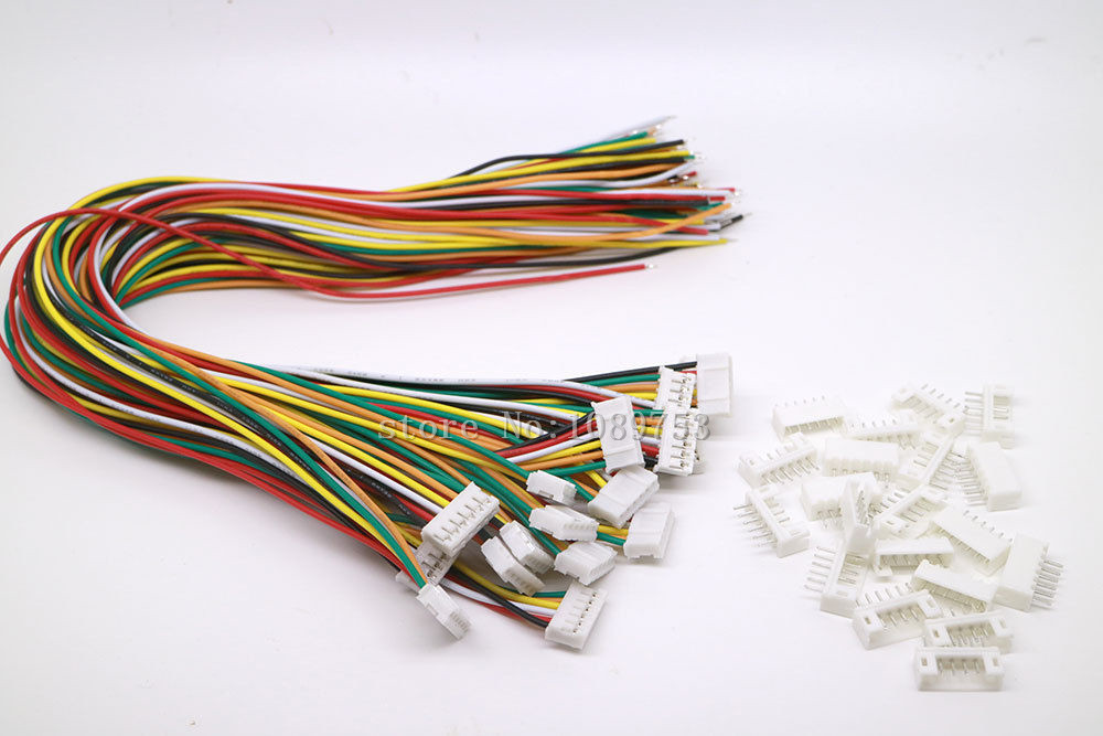 20 SETS Mini Micro JST 2.0 PH 6-Pin Connector plug with Wires Cables 300MM