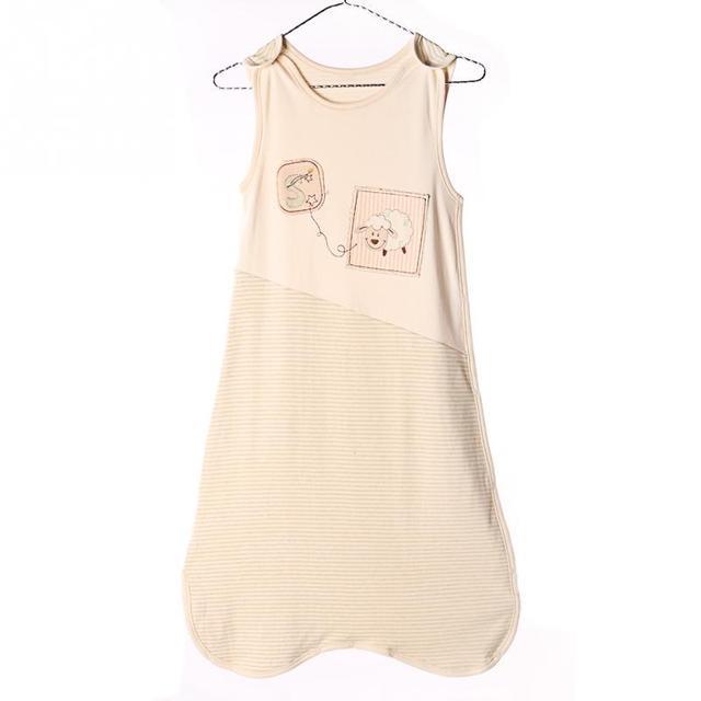 Baby Sleeping Bag Newborn summer Sleeveless Vest bunting bag Embroidery Cartoon Sheep Kids Anti-kicking baby quilt 0-3Years