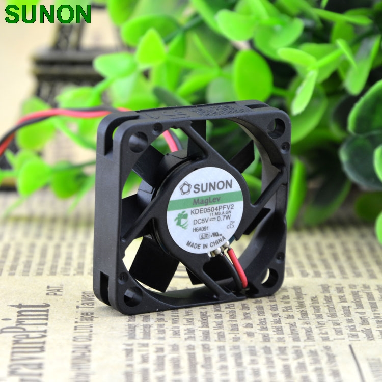 original Sunon 5V 0.7W KDE0504PFV2 4cm 4010 Hydraulic quiet fan for 40*40*10mm sunon original kde2404pfv3 double ball bearing cooling axial fan dc 24v 0 9w 4010 40 40 10mm 100 pcs lot