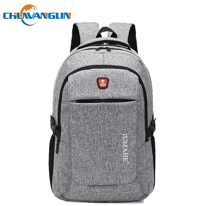 Chuwanglin Fashion Male Backpack Casual Backpack Men's School Bags 14 Inches Laptop Backpacks Large Capacity Travel Bags S1115