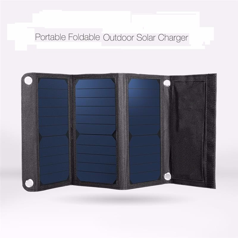 BUHESHUI 21W Foldable Solar Charger/ Mobile Phone Charger/Camping Outdoor Travel Portable Solar Panel Charger High Efficiency