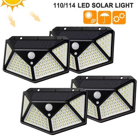100 114 levou luz solar ao ar livre 3 modos de lampada de parede sensor