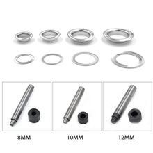 (100 pieces/lot) An inner diameter of 8mm/10mm/12mm/14mm eyelets. Wearing rope hole.Gas buttons. Metal pores. Shoebox