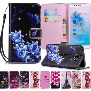 Image 1 - Роскошный кожаный флип чехол для Huawei Honor 20, 7C Pro, 8S, 8A, 8X, 7A, 7X, 7S, 10 Lite, 10i DUA L22 YAL, звеньевой бумажник, сумки с цветком