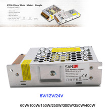 IP20 Ultra Thin 5V/12V/24V 60W/100W/150W/250W/300W/350W/400W led Transformer power supply Switching for LEDs Display