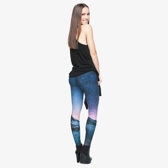 Women Girl Funny Leggings Beautiful Classical Joker Long Skinny Pants New 3D Starry Printed Pants