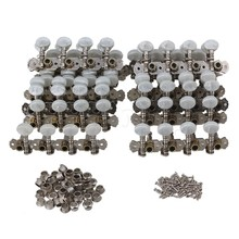 Yibuy 20 Pieces Mandolin Machine Heads Tuning Pegs Set with White Pearl Button