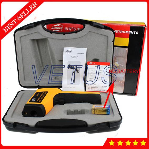 GM1650 Non-contact IR Laser infrared thermometer with measuring range 200 ~ 1650C цена