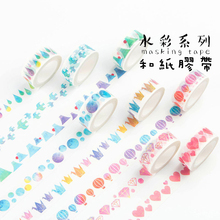 10PCS Adhesive Tapes 15mm*7m Foiled Washi DIY Japanese Seamless Hand Shredded Paper Tape Stickers Decorative Stationery