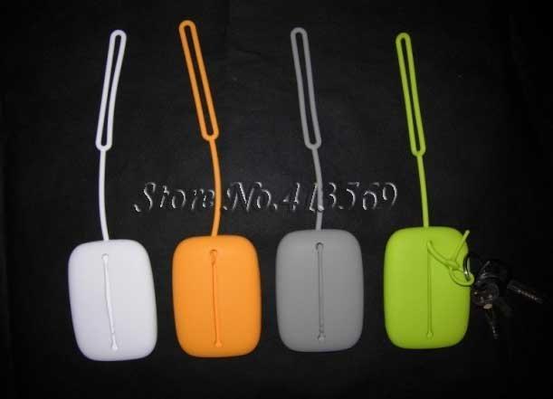 Free shipping New silicone Key Case Holder Bag Silica Gel Fashion Key Card Bag 20pcs/lot