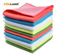 Paño de cocina de microfibra Sinland con Poly Scour Lado de cocina platos toallas trapo de limpieza 5 colores surtidos 12Inx12In 10 pack