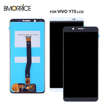 For Vivo Y75 TFT LCD Display Touch Screen Digitizer Full Assembly Replacement Parts No Frame Black White 100% Tested