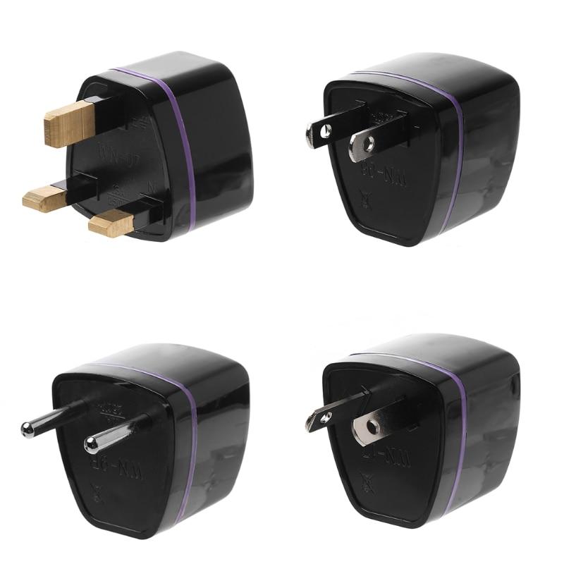 OOTDTY New AU/US/EU/UK To Universal AC Power Wall Travel Plug Socket Converter Adapter Black 110V-250V 10A