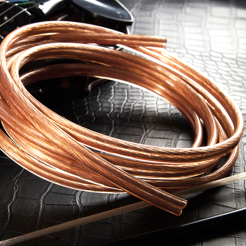 Transparent speaker wire cable ofc bare copper for hifi home theater dj system kvt car audio 20Gauge A104 6