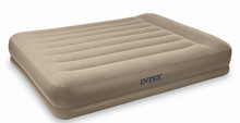 Deluxe Double air mattress  built pump stripe thicker cushion bunk bed