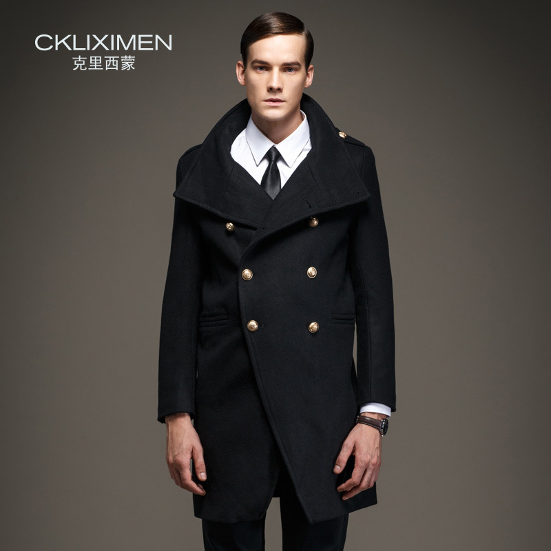 CKLIXIMEN Brand Clothing Double Breasted Winter Wool Coat Men Fashion Military Army Long Designer abrigos hombre Coats 8803