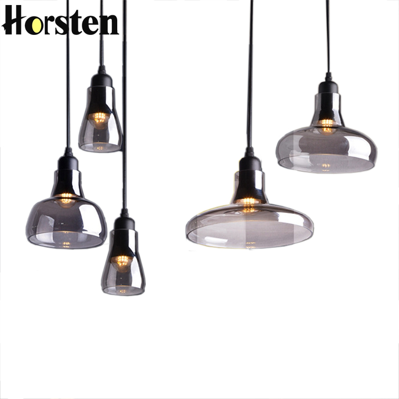 Us 29 89 35 Off Horsten Vintage Smoke Gl Pendant Lights Retro Art Deco Lamp Hanging Bedroom Dining Room Restaurant Fixtures In
