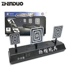 цена на ZhenDuo Gun Toy Accessories Electric Score Target 3S Automatic Restore Water Gun Soft Gun Toys Outdoor For Children