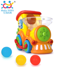 Huile Toys 958 Wholesale Electric Train Set Baby Educational Electric Train With Music/Light/Balls Birthday Gift Boy toys
